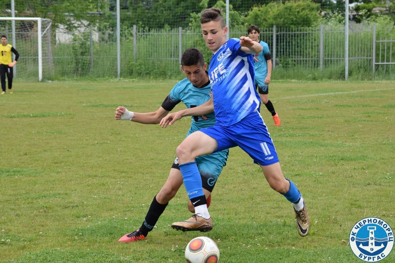 Черноморец U15 на Републиканско, след обрат над Бургас спорт