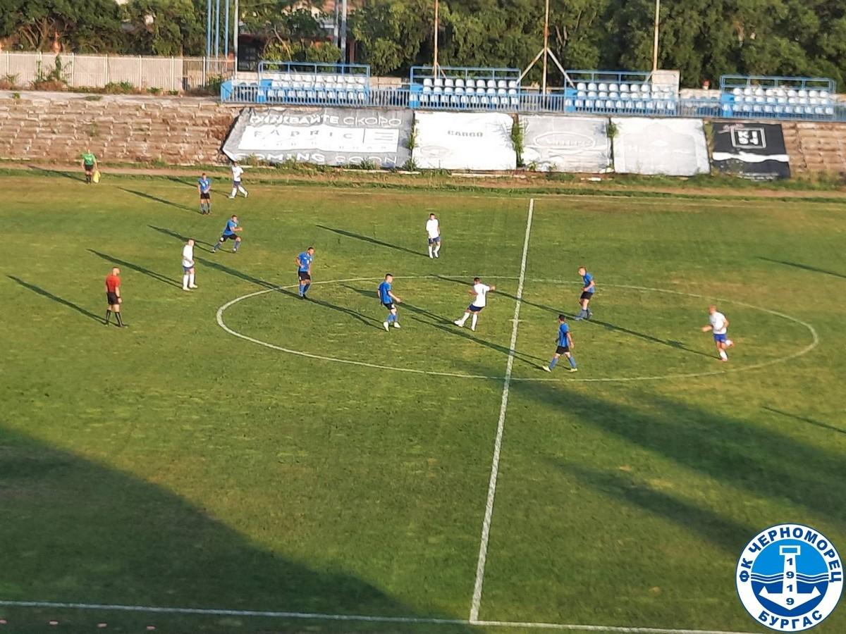 Черноморец организира контрола и двустранна игра до края на подготовката си